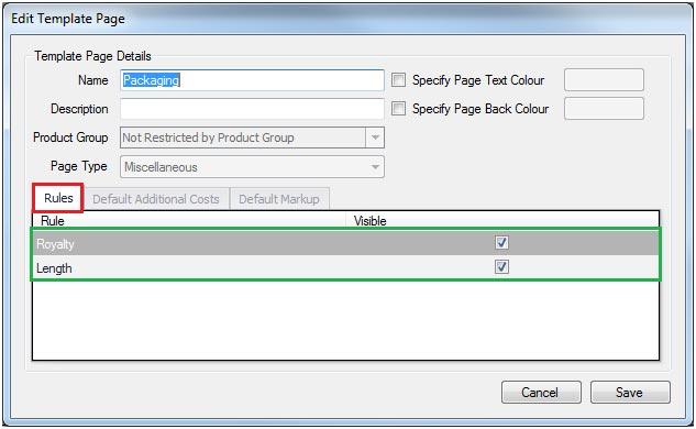 Sapman v12 Edit Template screen