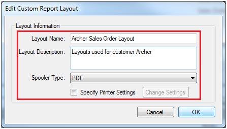 Sapman v12 Custom Report screen